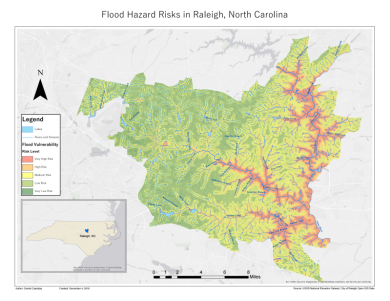 Mapping Flood Risk in Raleigh, North Carolina – Geospatial Insights
